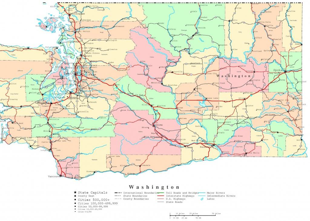 Washington Printable Map - Washington State Counties Map Printable