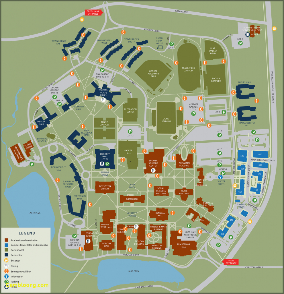 Washington University Map Us Campus Map Unique California University - California University Of Pa Campus Map