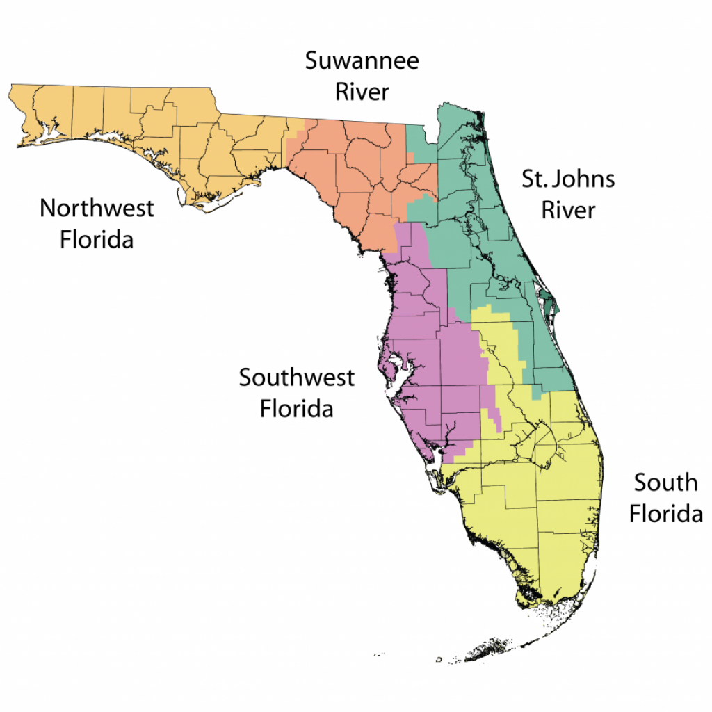 Water Management Districts | Florida Department Of Environmental - Flood Zone Map South Florida