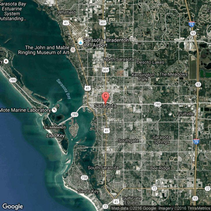 Map Sarasota Florida Usa