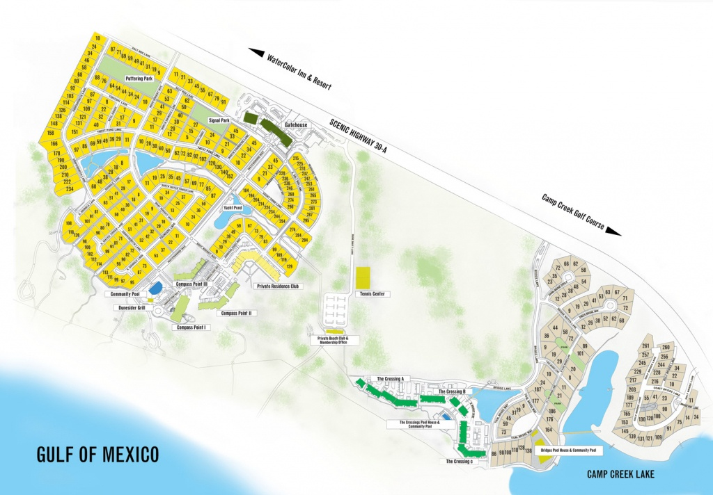 Watersound Florida Map | Beach Group Properties - Seaside Beach Florida Map