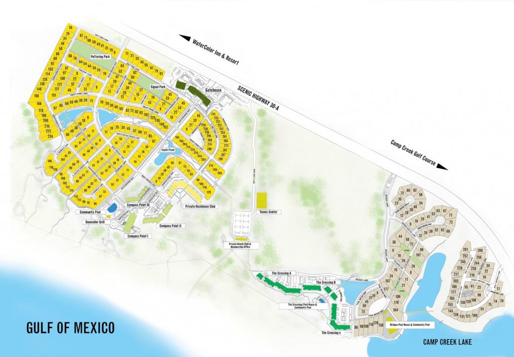 Watersound Florida Map   Beach Group Properties - Watersound Beach Florida Map
