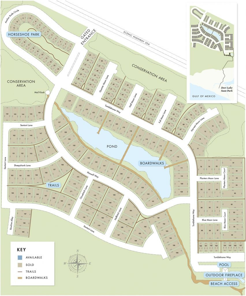 Watersound West Beach | Florida Real Estate :: Beach Properties Of - Watersound Florida Map