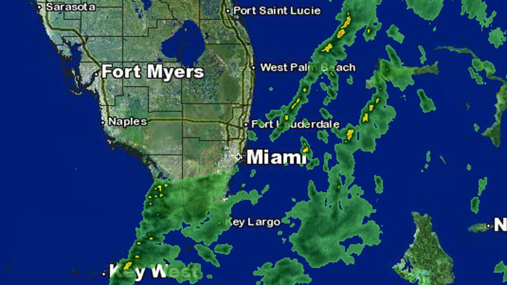 Weather Forecast: Isolated Showers Early Friday, Clear Later - Nbc 6 - South Florida Weather Map