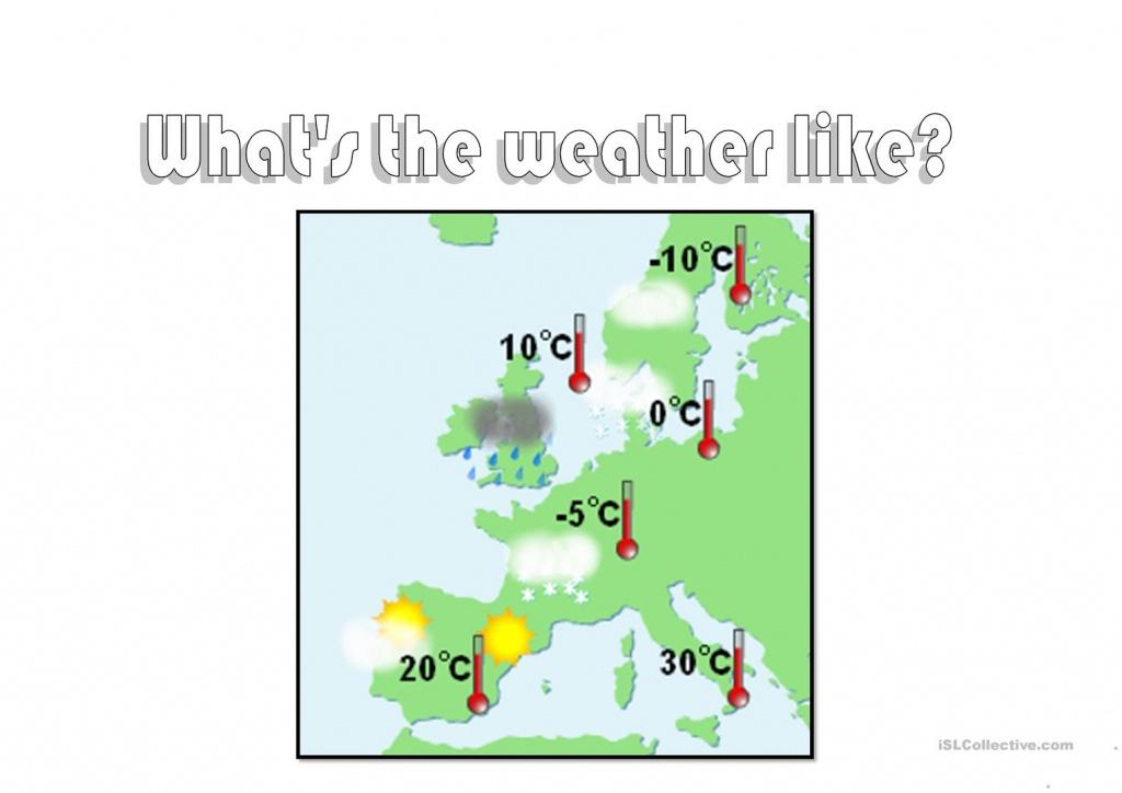 Weather Map Worksheet - Free Esl Printable Worksheets Madeteachers - Free Printable Weather Map Worksheets