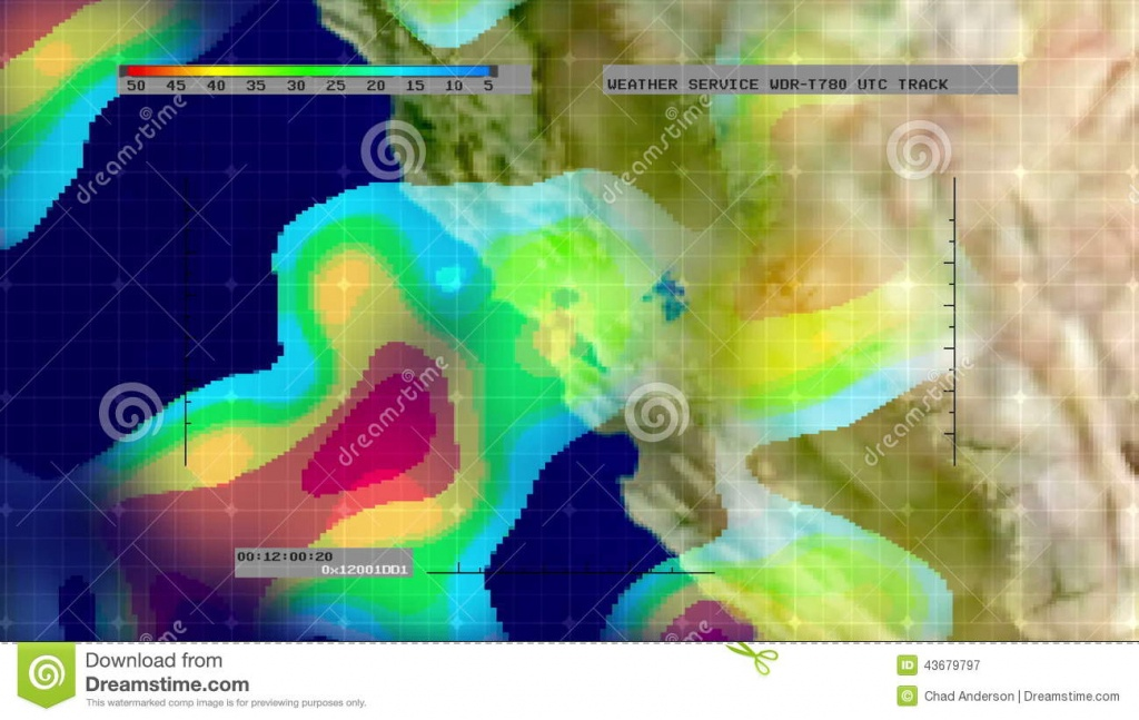 Weather Radar Digital Satellite Map (N. California) Stock Video - Satellite Weather Map California
