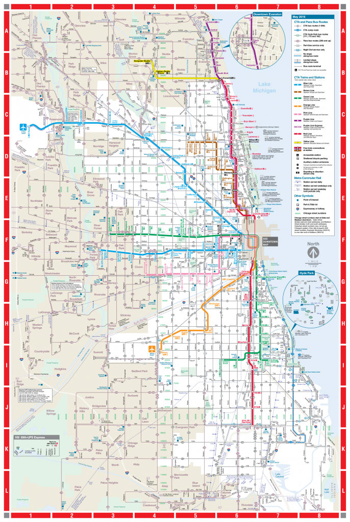 Web-Based System Map - Cta - Printable Map Of Downtown Chicago