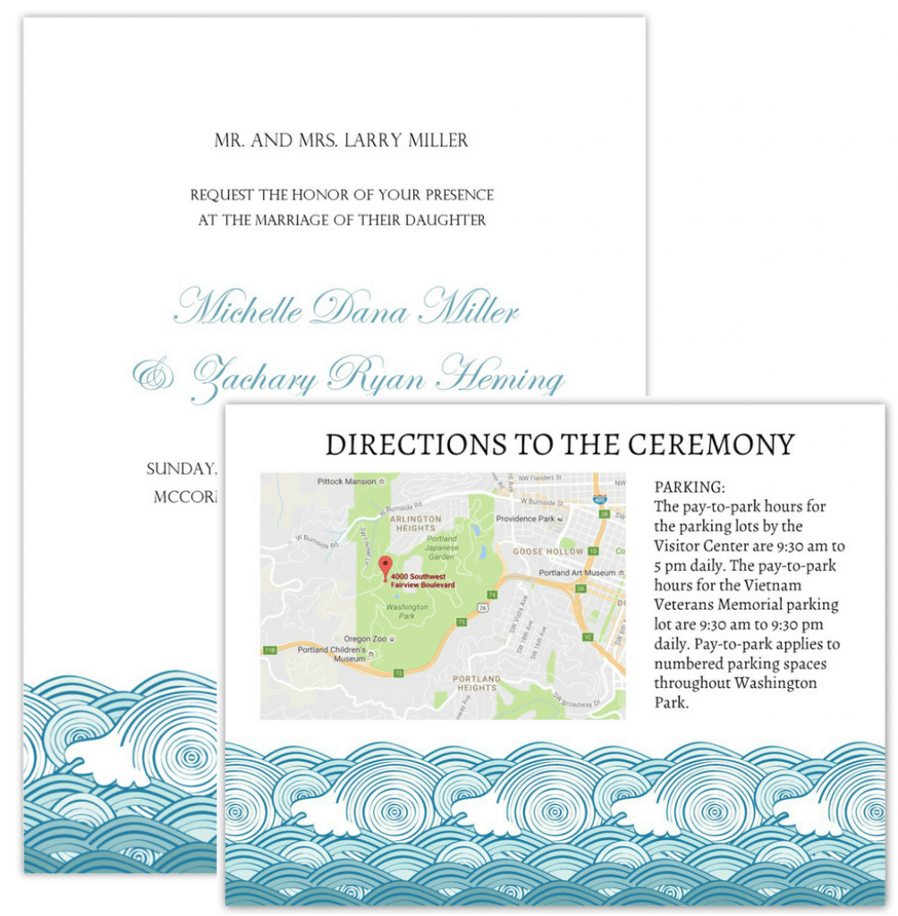 Wedding Invitation Maps - Maps For Invitations Free Printable
