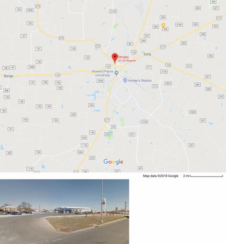 Brady Texas Map