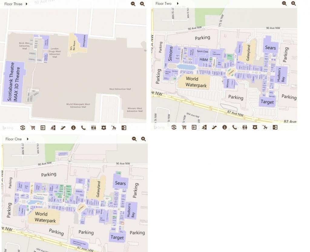 West Edmonton Mall In Edmonton, Alberta - 538 Stores, Hours - West Edmonton Mall Map Printable