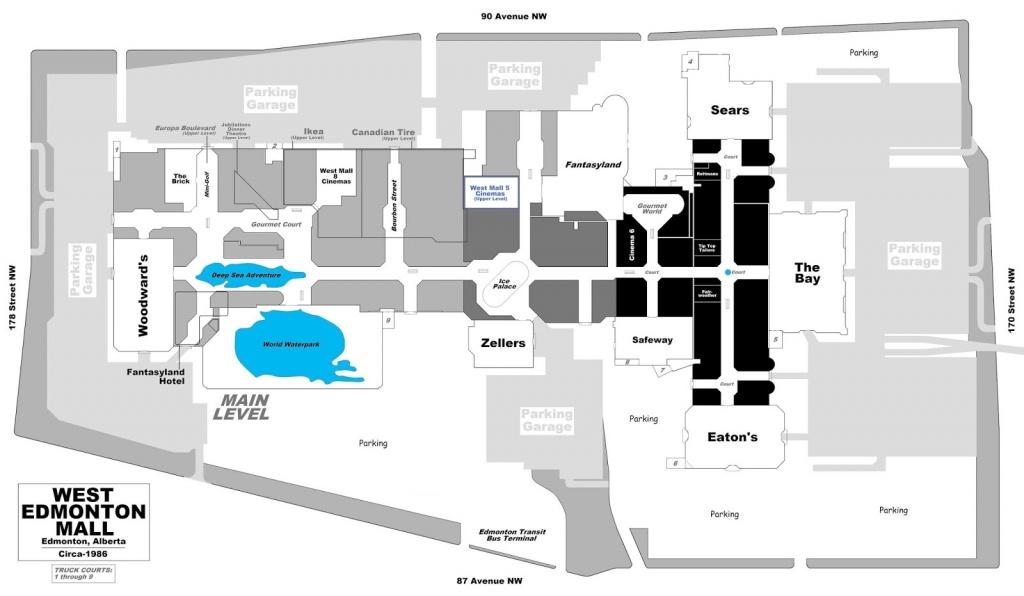 West Edmonton Mall | Renovations - Page 49 - West Edmonton Mall Map Printable