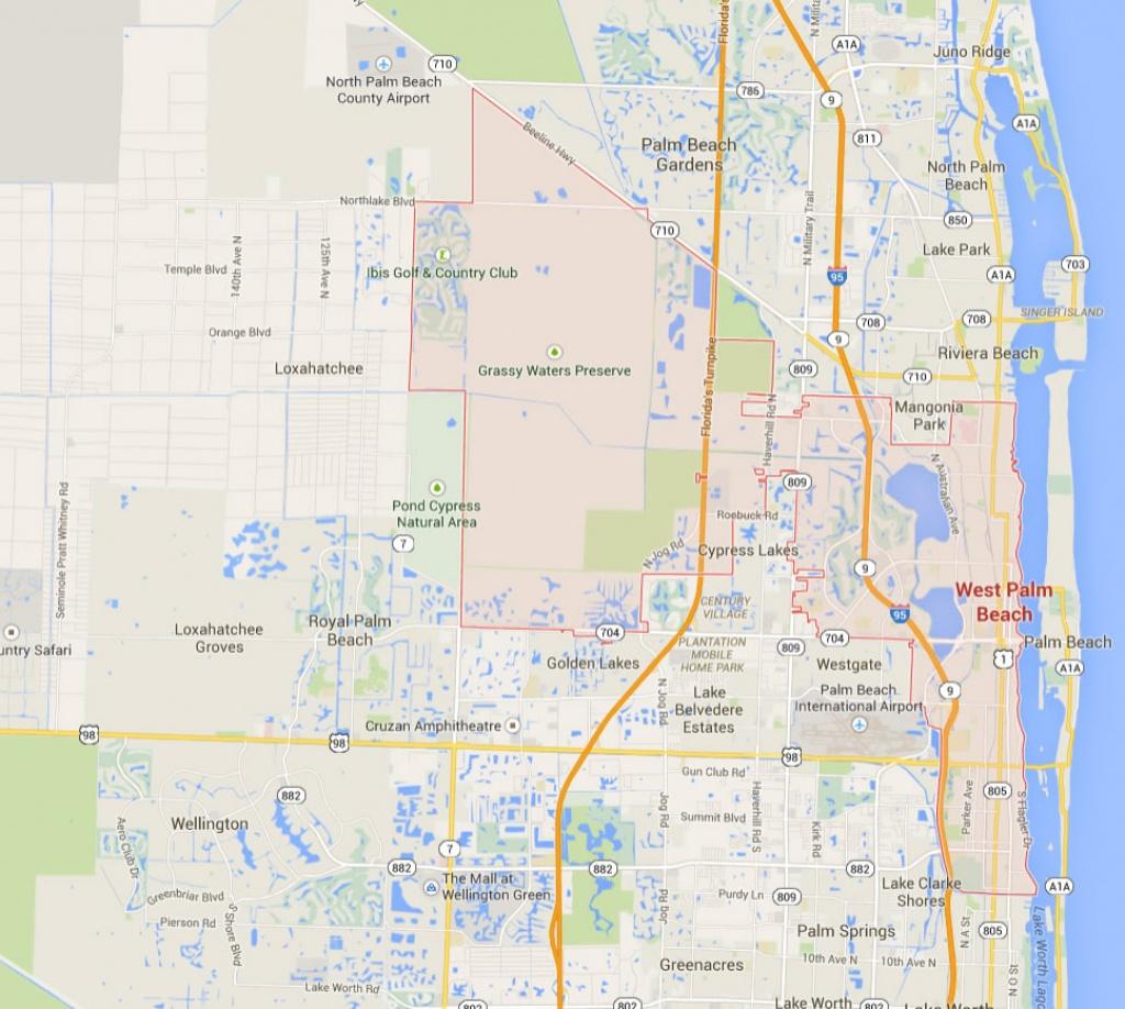 West Palm Beach, Florida Map - Satellite Beach Florida Map