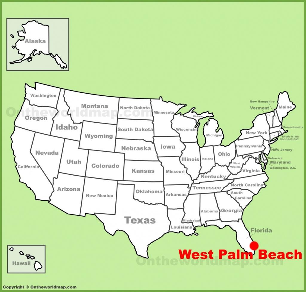 West Palm Beach Maps | Florida, U.s. | Maps Of West Palm Beach - Palm Beach Florida Map