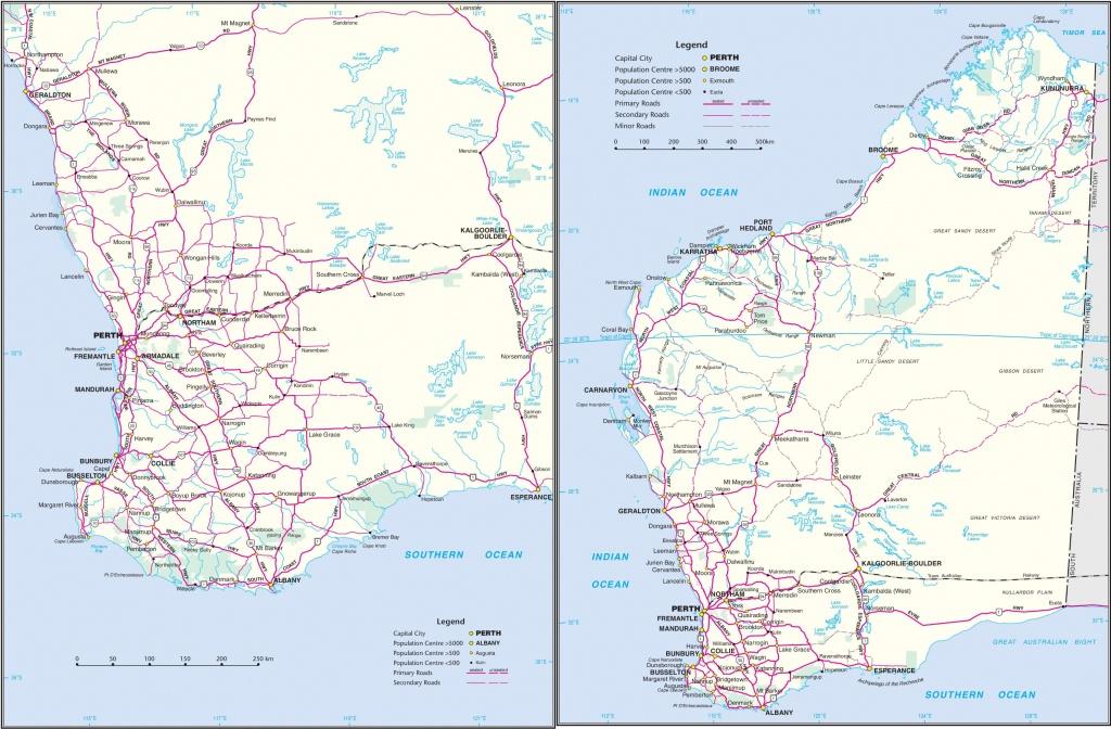 Western Australia Road Map - Printable Map Of Western Australia