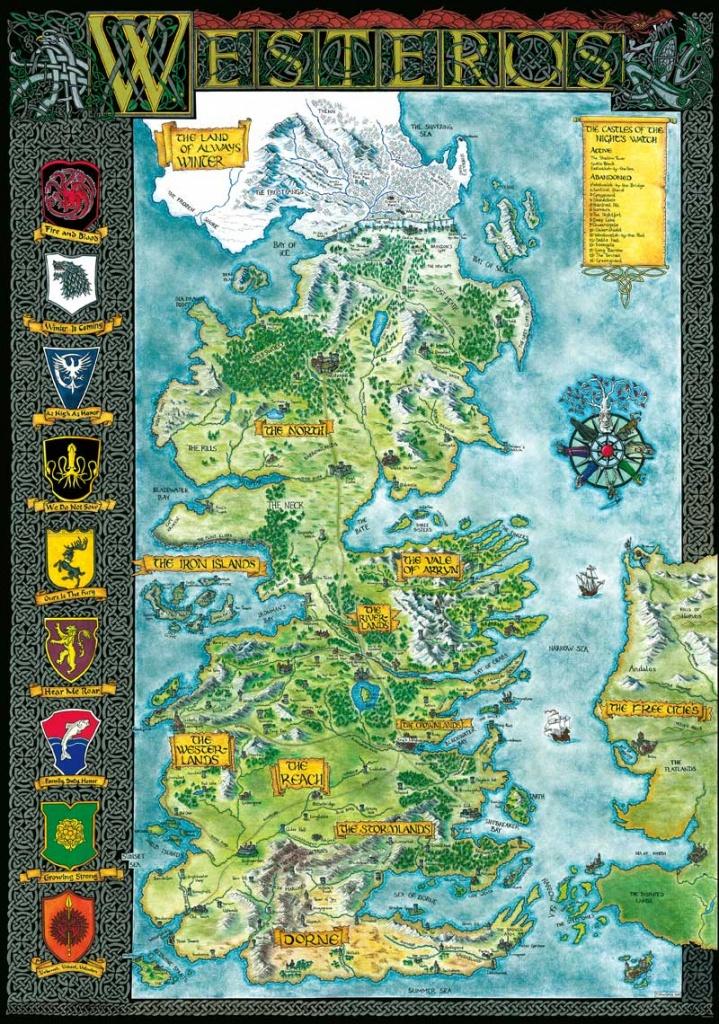 Westeros | Klaradox - Printable Map Of Westeros