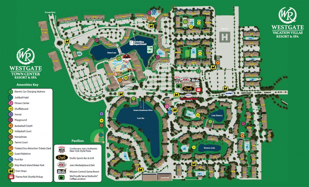 Westgate Town Center Resort Map   Kissimmee Fl - Map Of Hotels In Kissimmee Florida