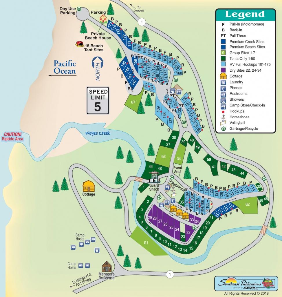 Westport Beach Rv Park In Westport, California | Amenities | Mobilerving - Rv Parks California Map
