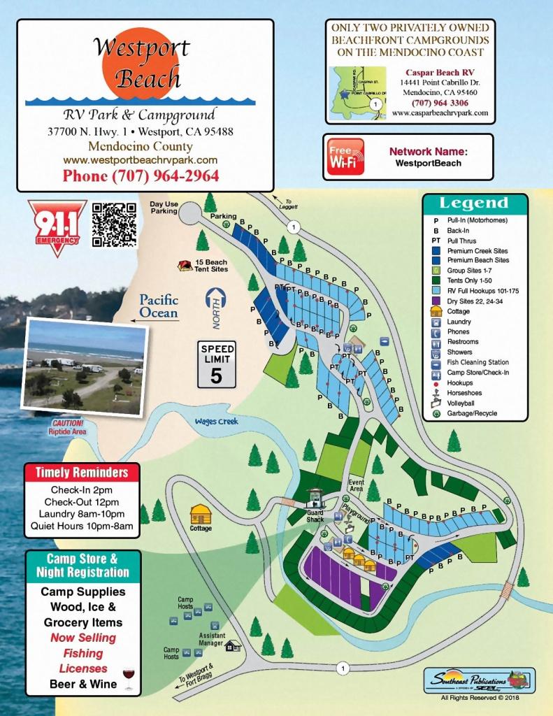 Westport Park Map - California Rv Resorts Map