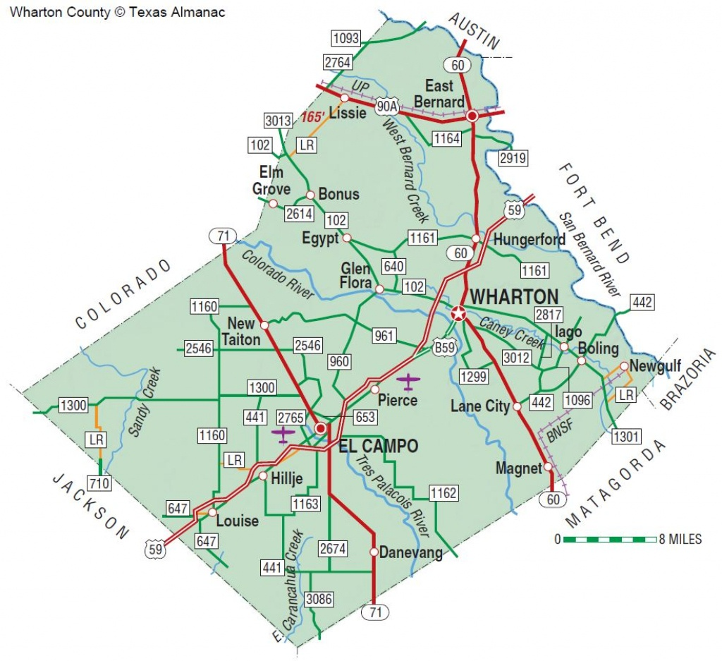Wharton County   The Handbook Of Texas Online  Texas State - Map Of Matagorda County Texas