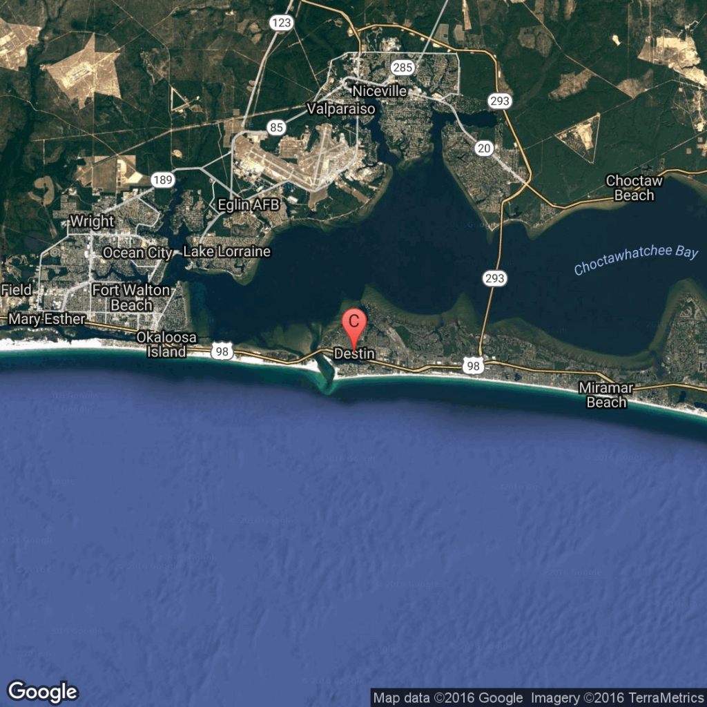 What Is The Closest Major Airport To Destin, Florida?   Getaway Usa - Map Of Hotels In Destin Florida