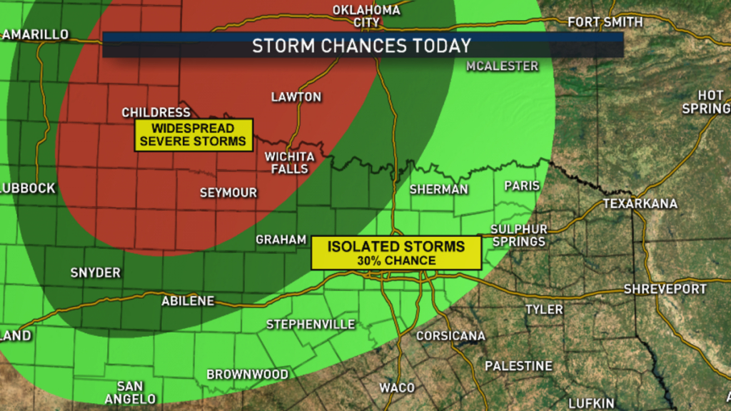 What To Expect, Timing For Storms In Dallas-Fort Worth - Nbc 5 - North Texas Radar Map