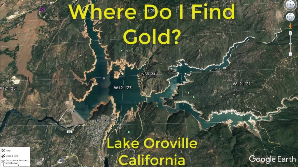Where Do I Find Gold Around Lake Oroville - Youtube - Oroville California Google Maps