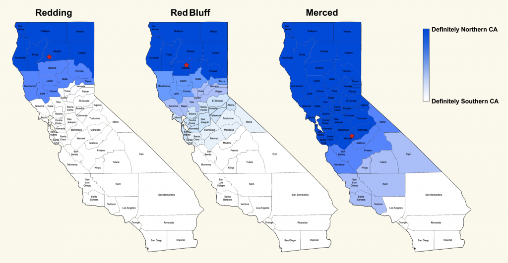 Where Exactly Is Northern California?   Nspr - Red Bluff California Map