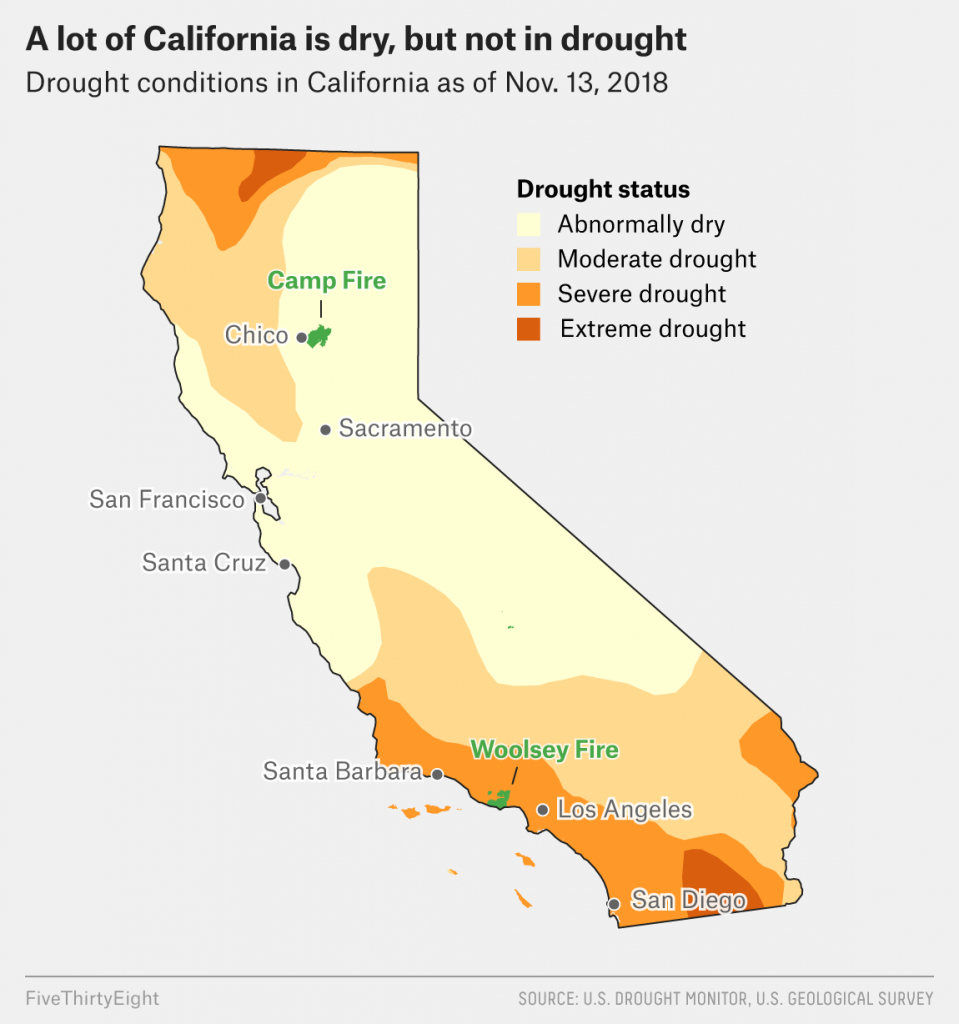 Why California's Wildfires Are So Destructive, In 5 Charts - California Wildfires 2018 Map