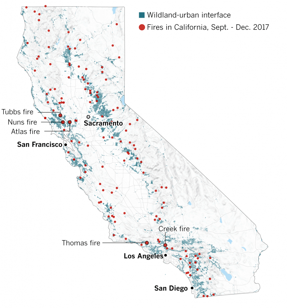Why The 2017 Fire Season Has Been One Of California's Worst - Los - California Wildfire Risk Map
