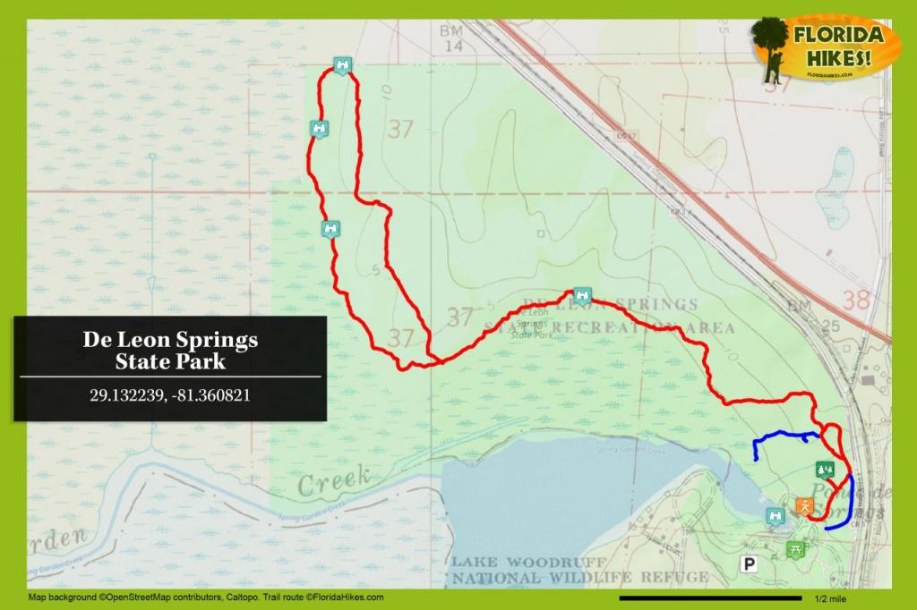 Wild Persimmon Trail | Florida Hikes! - Deland Florida Map