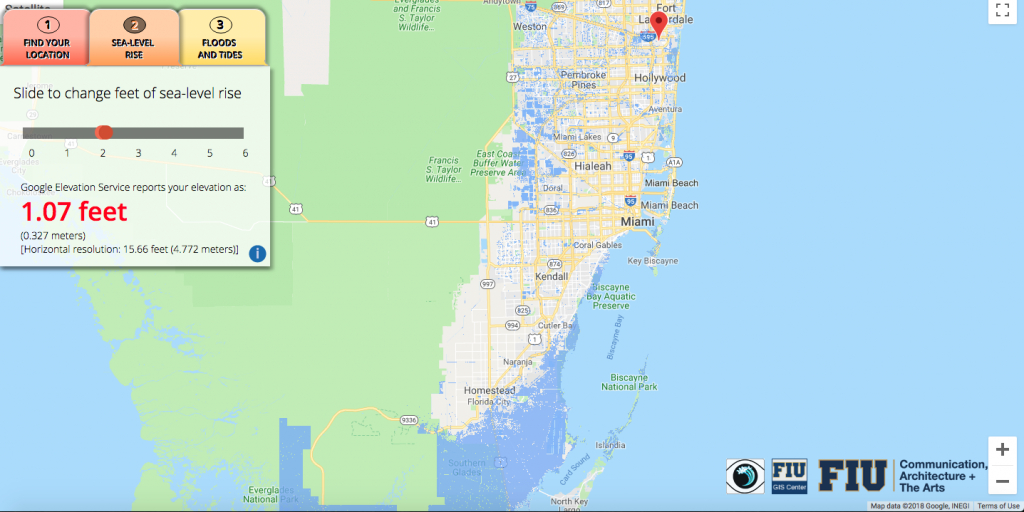 Will Flooding From Sea-Level Rise Impact Your House? This App Lets - Florida Sea Rise Map