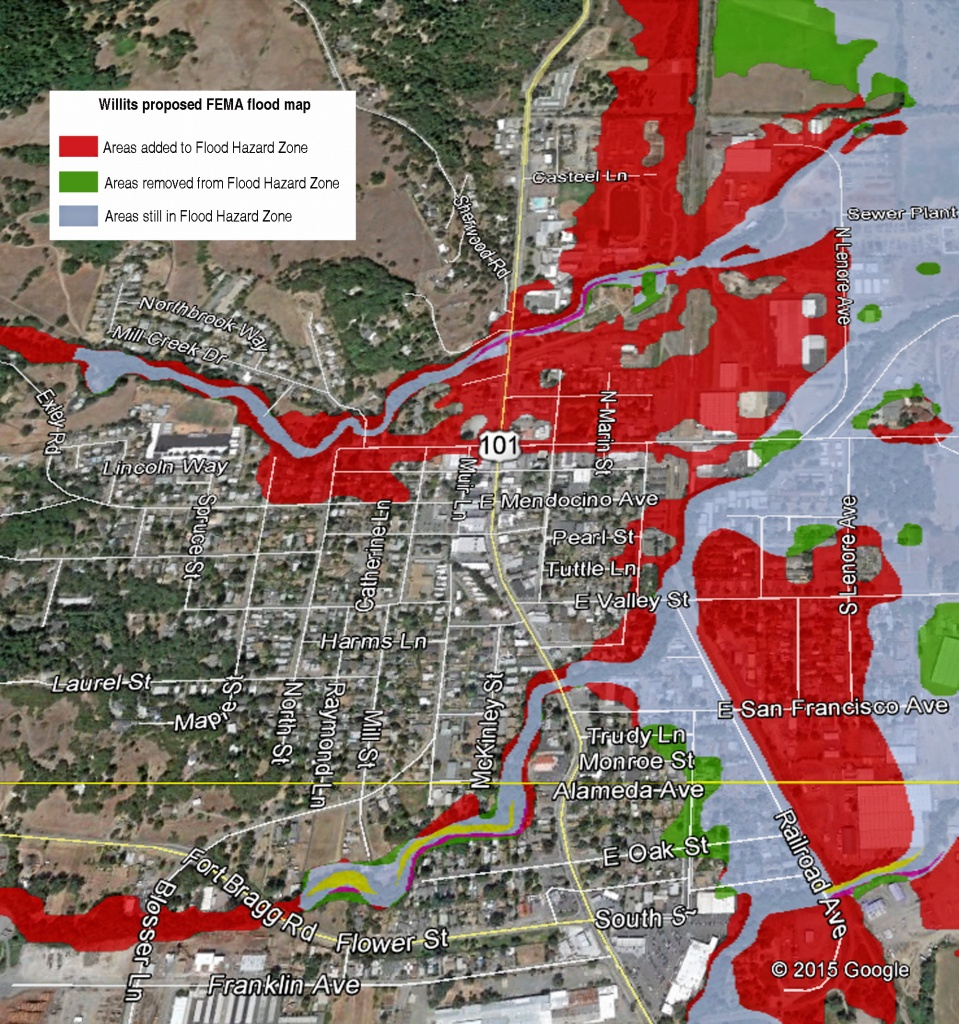 Willits: Fema Maps Increase Flood Zones – The Willits News - California Flood Insurance Rate Map