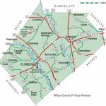 Wilson County | The Handbook Of Texas Online| Texas State Historical - Luckenbach Texas Map