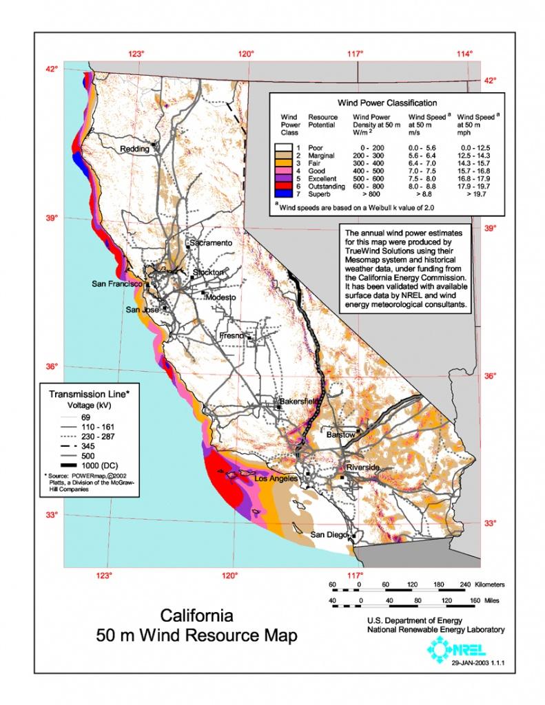 Wind Power In California - Wikipedia - Real Time Wind Map California
