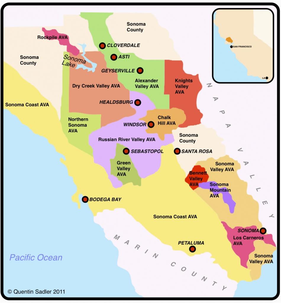 Wine Regions Of California Map   Secretmuseum - Wine Country Map Of California