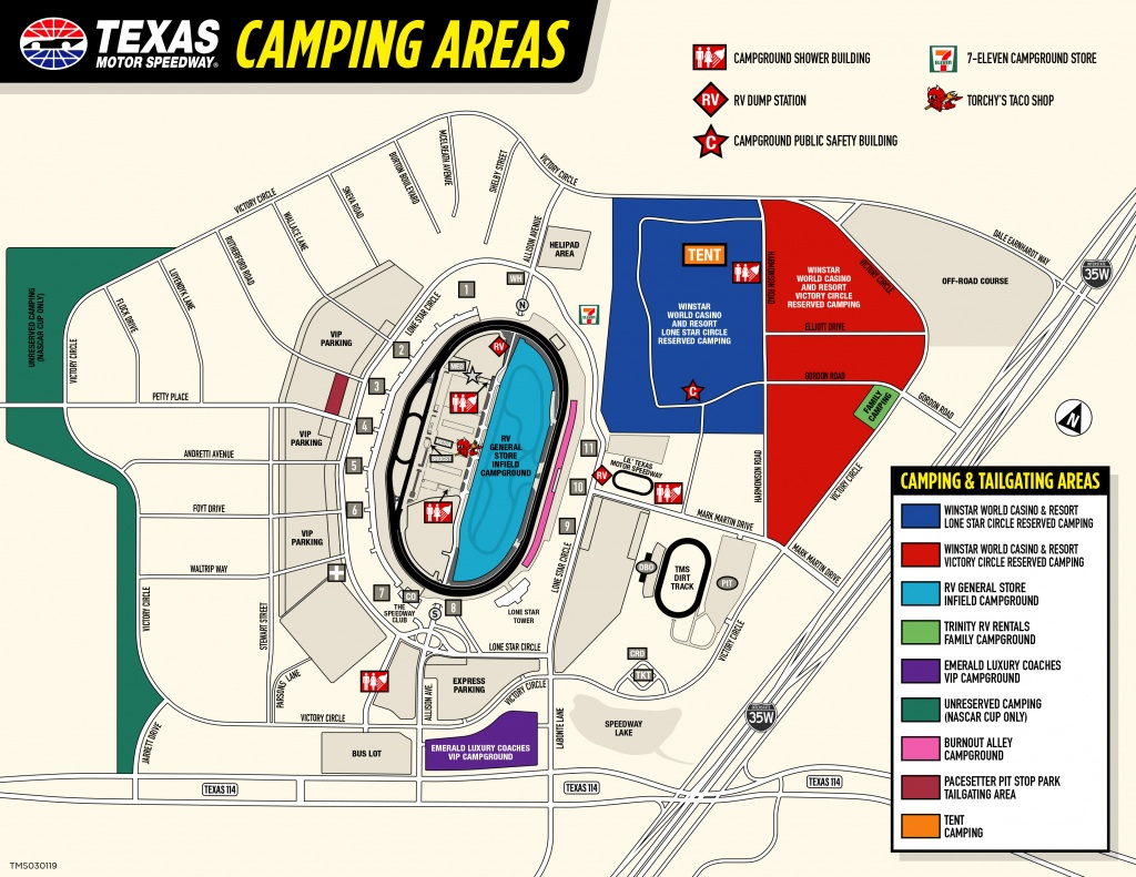 Winstar World Casino And Resort Reserved Camping - Texas Campgrounds Map
