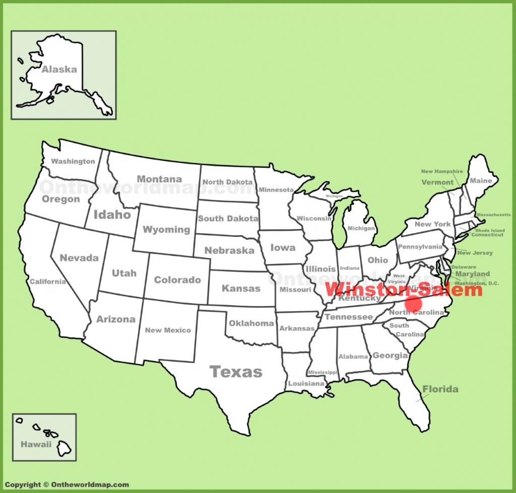 Winston-Salem Location On The U.s. Map - Winston California Map