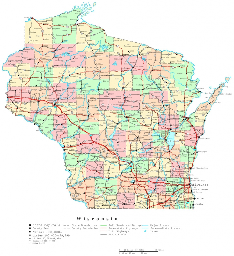 Wisconsin Printable Map - Printable Map Of Downtown Madison Wi