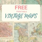 Wonderful Free Printable Vintage Maps To Download | Papercrafts - Printable Map Paper