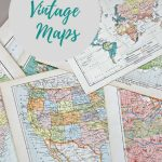 Wonderful Free Printable Vintage Maps To Download   Pillar Box Blue   Create Printable Map