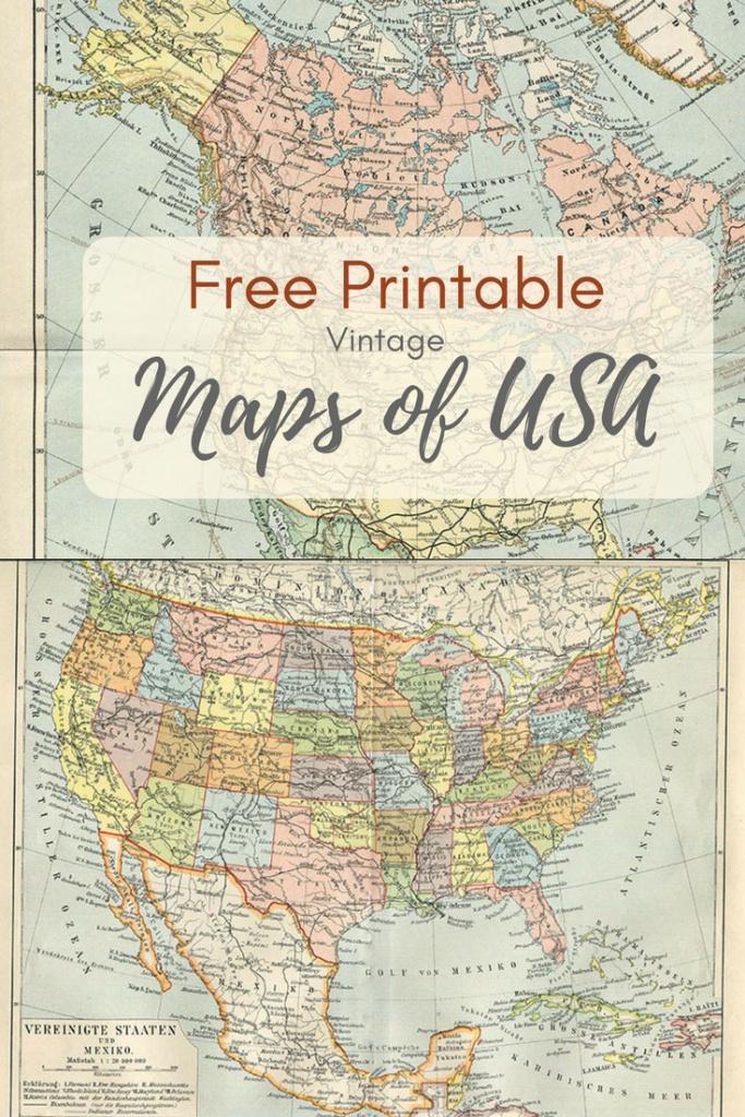 Wonderful Free Printable Vintage Maps To Download - Pillar Box Blue - Vintage Map Printable