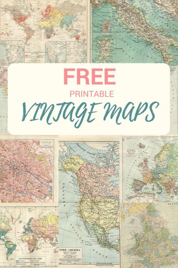 Wonderful Free Printable Vintage Maps To Download   Voyages - Free Printable Vintage Maps