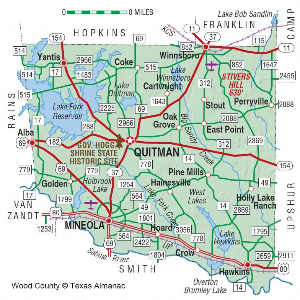 Wood County | The Handbook Of Texas Online| Texas State Historical - Quitman Texas Map