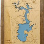 Wood Laser Cut Map Of Lake Livingston Texas Engraved Map | Etsy   Map Of Lake Livingston Texas