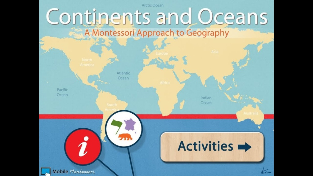 World Continents And Oceans - Youtube - Printable Map Of The 7 Continents And 5 Oceans
