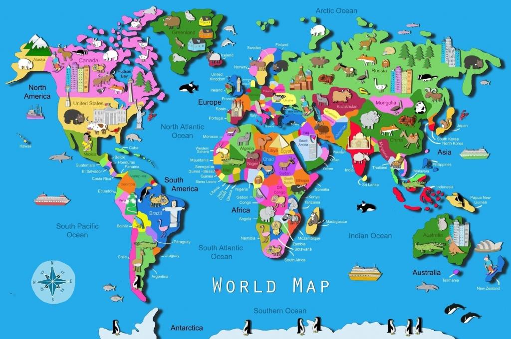 World Map Download Big Size Fresh World Map Kids Printable Valid - Printable World Maps For Students