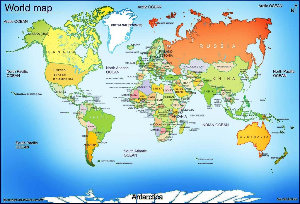 World Map - Free Large Images | Maps | World Map With Countries - Large Printable Map