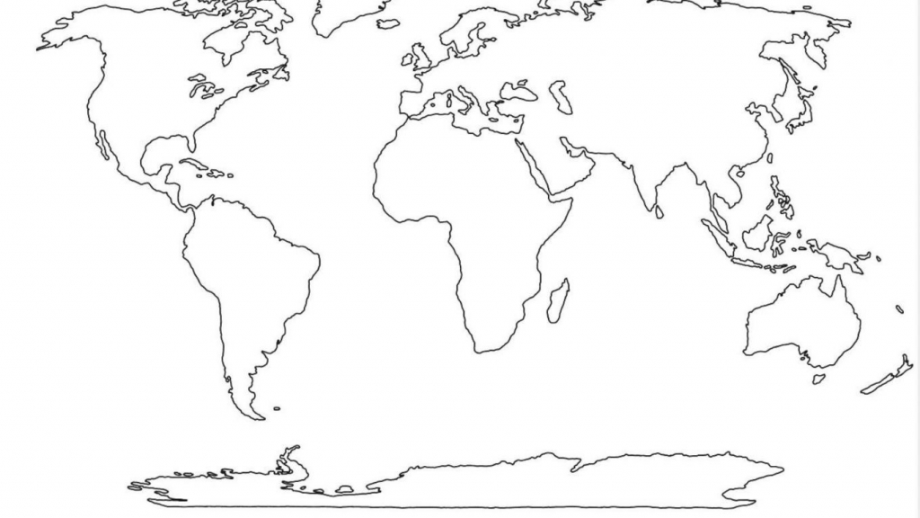 World Map Outline Free Copy Printable Tattoo Google At 1360×765 7 - Free Printable World Map Outline
