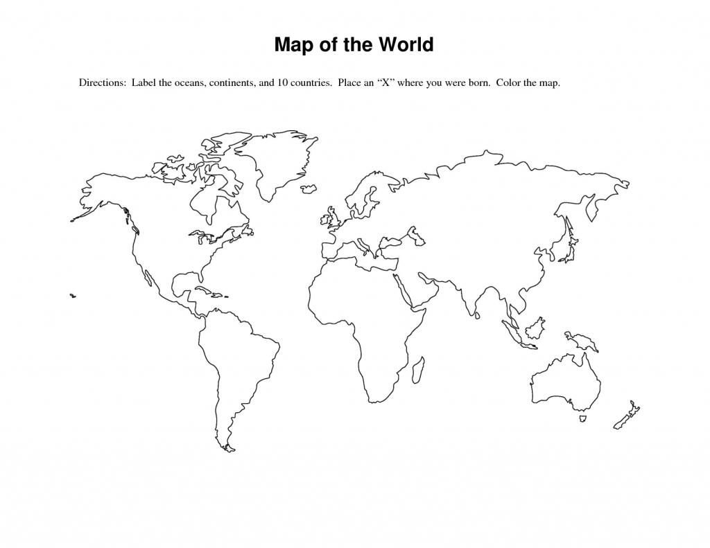 World Map Outline Printable For Kids And Travel Information - Printable World Map Outline Ks2