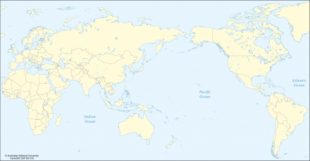 World Map Pacific Centered - Lgq - Printable World Map Pacific Centered